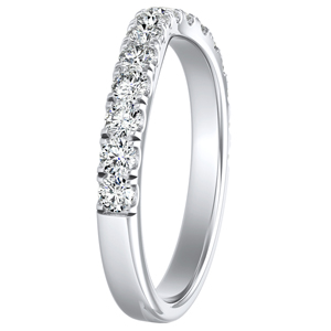 KYLIE Diamond Wedding Ring In 14K White Gold
