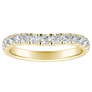 KYLIE Diamond Wedding Ring In 14K Yellow Gold