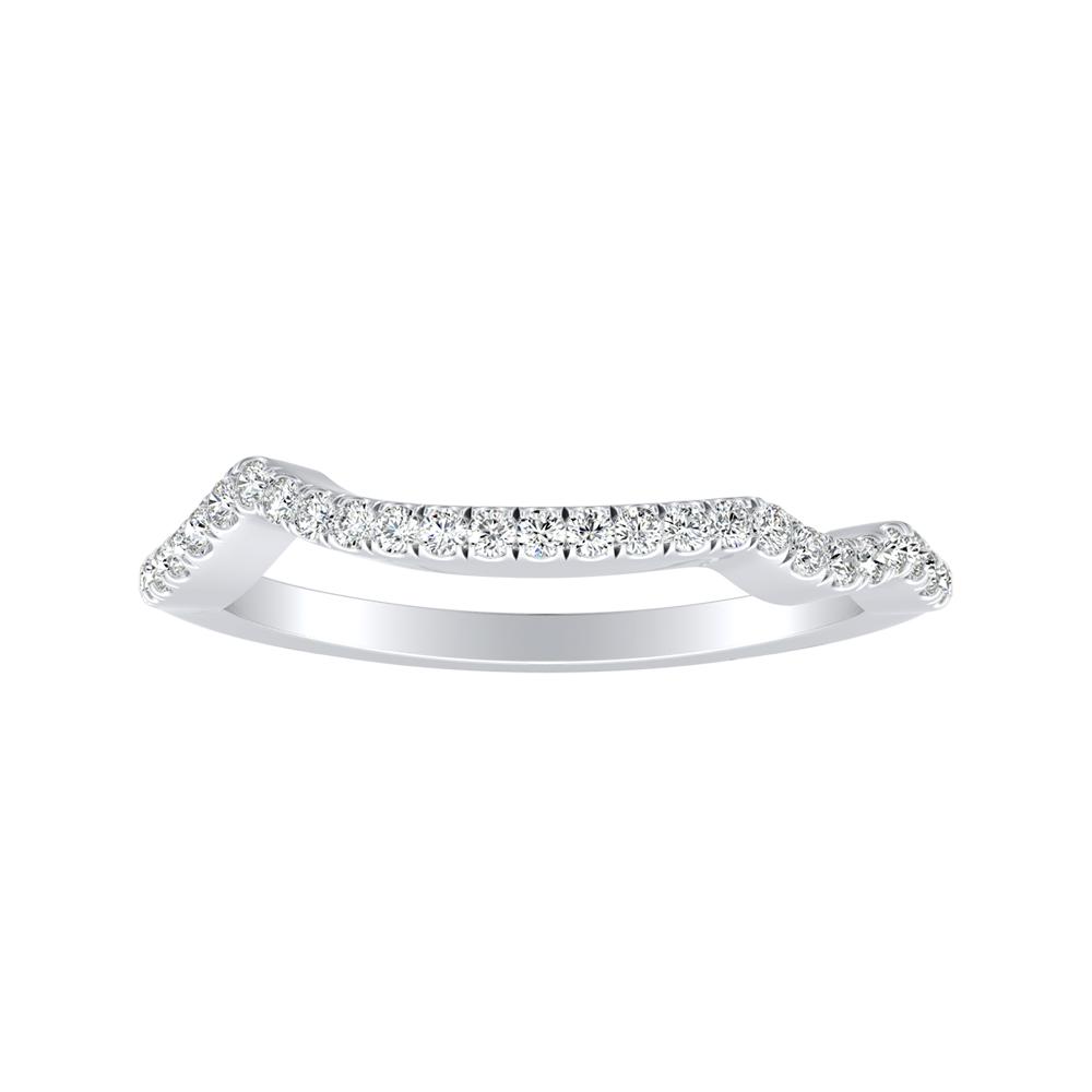 LAUREN Modern Diamond Wedding Ring In 14K White Gold