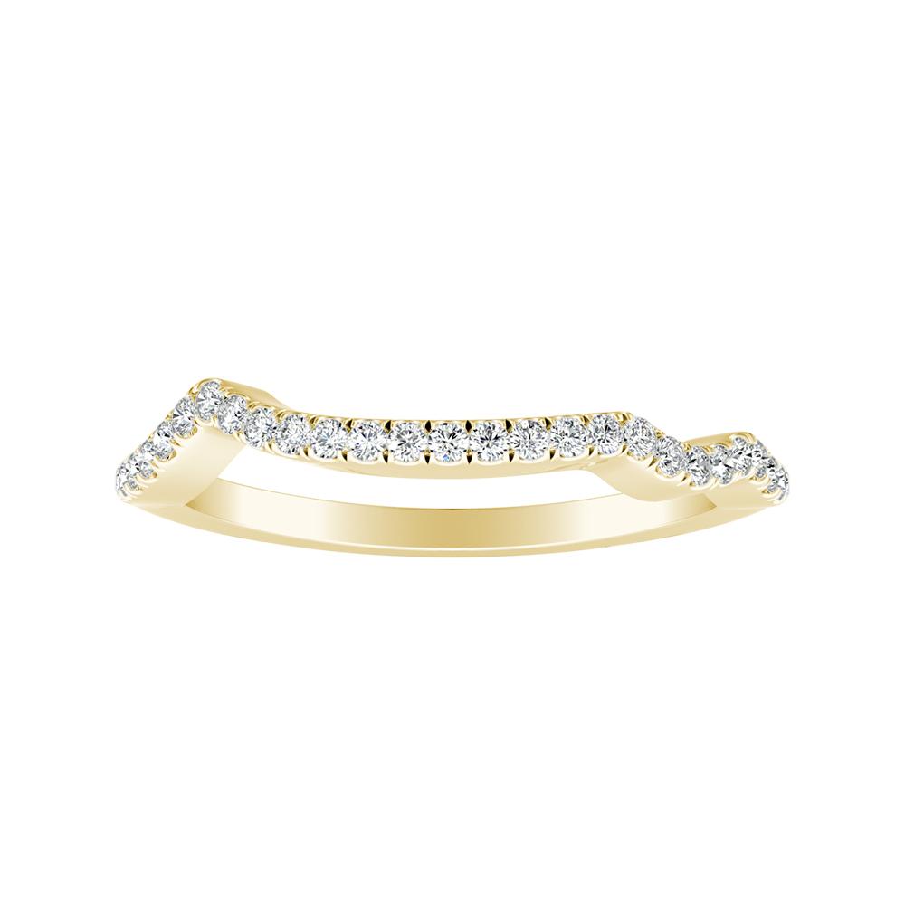 LAUREN Modern Diamond Wedding Ring In 14K Yellow Gold