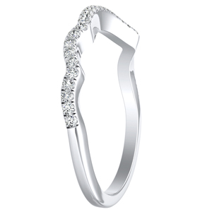 LAUREN Modern Diamond Wedding Ring In 14K White Gold