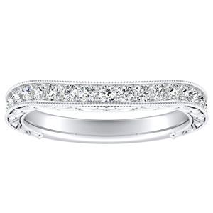 KAYLA Vintage Diamond Wedding Ring In 14K White Gold