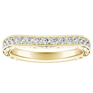KAYLA Vintage Diamond Wedding Ring In 14K Yellow Gold