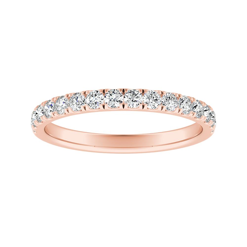 PIPER Classic Diamond Wedding Ring In 14K Rose Gold