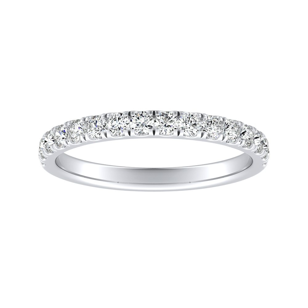 PIPER Classic Diamond Wedding Ring In 14K White Gold