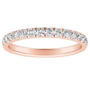 PIPER Classic Diamond Wedding Ring In 14K Rose Gold