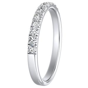 PIPER Classic Diamond Wedding Ring In 14K White Gold