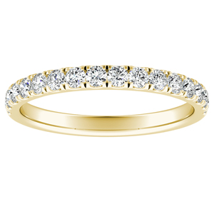 PIPER Classic Diamond Wedding Ring In 14K Yellow Gold