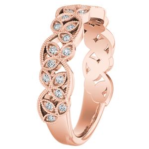 KIMBERLY Vintage Diamond Wedding Ring In 14K Rose Gold