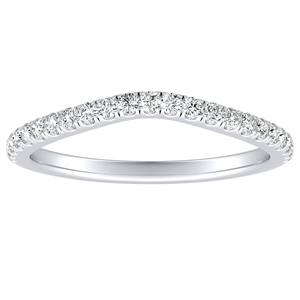 AUBREE Diamond Wedding Ring In 14K White Gold
