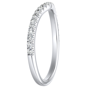 AUBREE Diamond Wedding Ring In 14K White Gold