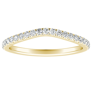 AUBREE Diamond Wedding Ring In 14K Yellow Gold