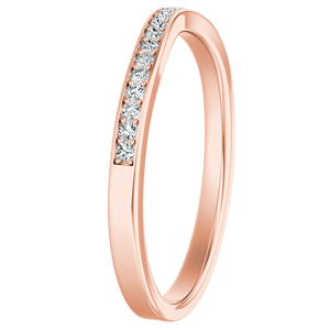 CLARA Diamond Wedding Ring In 14K Rose Gold