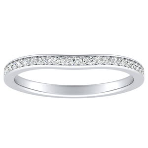 CLARA Diamond Wedding Ring In 14K White Gold