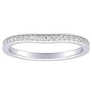 CLARA Diamond Wedding Ring In 14K White Gold