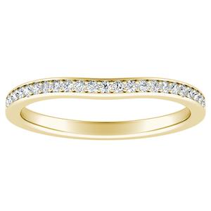 CLARA Diamond Wedding Ring In 14K Yellow Gold