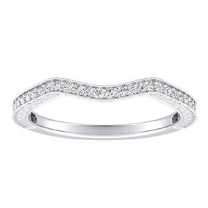 SARAH Vintage Diamond Wedding Ring In 14K White Gold