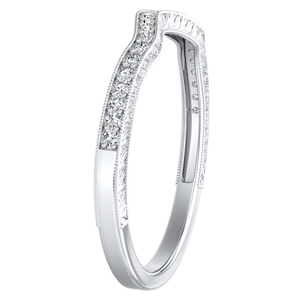 SARAH Vintage Diamond Wedding Ring In 14K White Gold