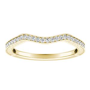 SARAH Vintage Diamond Wedding Ring In 14K Yellow Gold