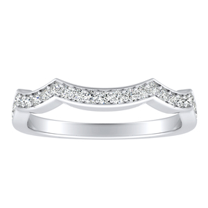 CORA Diamond Wedding Ring In 14K White Gold