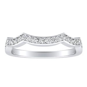 CORA Diamond Wedding Ring In 14K White Gold