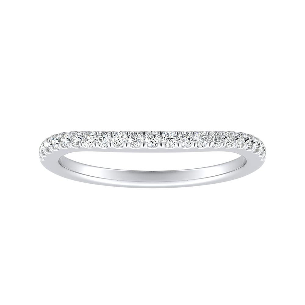 KAYLEE Classic Diamond Wedding Ring In 14K White Gold