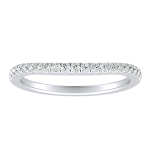 KAYLEE Classic Diamond Wedding Ring In 14K White Gold