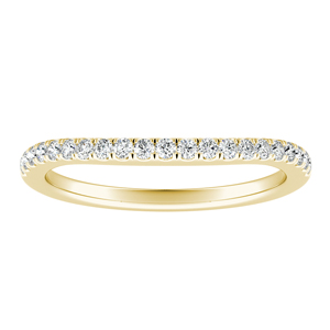 KAYLEE Classic Diamond Wedding Ring In 14K Yellow Gold