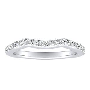 ELENA Diamond Wedding Ring In 14K White Gold