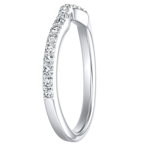 ELENA Diamond Wedding Ring In 14K White Gold