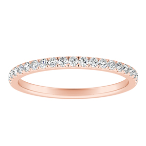 AURORA Classic Diamond Wedding Ring In 14K Rose Gold