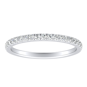 AURORA Classic Diamond Wedding Ring In 14K White Gold