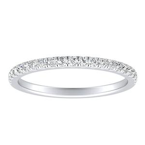 AURORA Classic Diamond Wedding Ring In 14K White Gold
