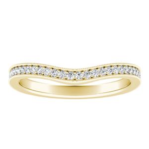 ALEXANDRA Vintage Diamond Wedding Ring In 14K Yellow Gold