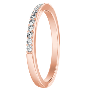 GIANNA Diamond Wedding Ring In 14K Rose Gold