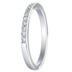 GIANNA Diamond Wedding Ring In 14K White Gold