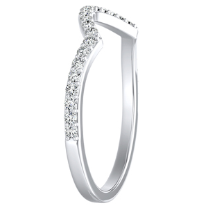 KINSLEY Diamond Wedding Ring In 14K White Gold