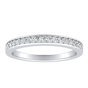 MARIA Classic Diamond Wedding Ring In 14K White Gold