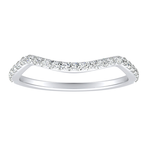 EVA Diamond Wedding Ring In 14K White Gold