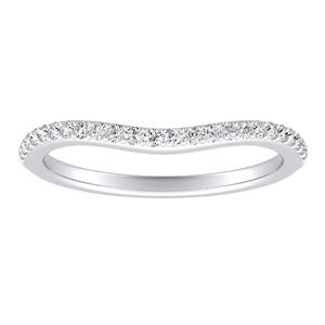 KHLOE Diamond Wedding Ring In 14K White Gold