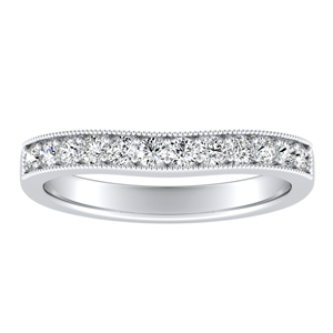 SOPHIE Diamond Wedding Ring In 14K White Gold