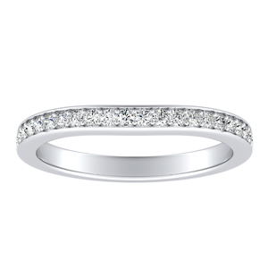 ANNE Classic Diamond Wedding Ring In 14K White Gold