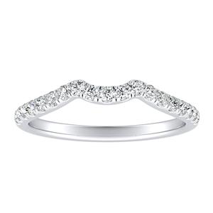 BELLA Diamond Wedding Ring In 14K White Gold