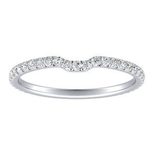 ALINA Diamond Wedding Ring In 14K White Gold