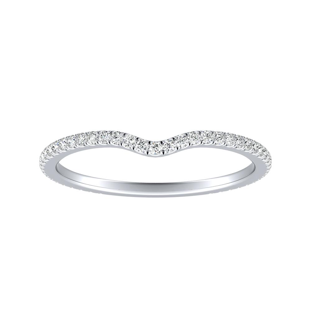 JOCELYN Diamond Wedding Ring In 14K White Gold