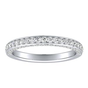 ANNA Diamond Wedding Ring In 18K White Gold