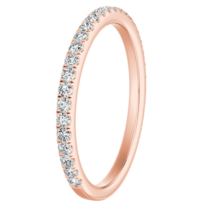 SOLEIL Classic Diamond Wedding Ring In 14K Rose Gold