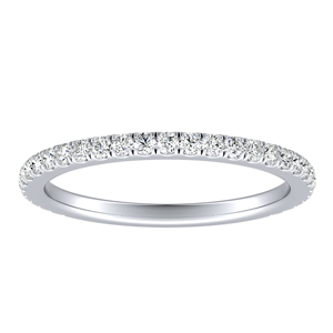 SOLEIL Classic Diamond Wedding Ring In 14K White Gold
