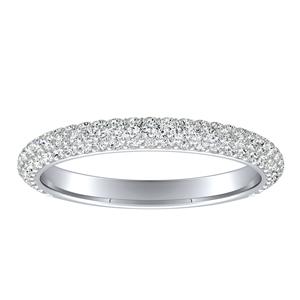 EVERLY Diamond Wedding Ring In 14K White Gold