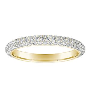 EVERLY Diamond Wedding Ring In 14K Yellow Gold
